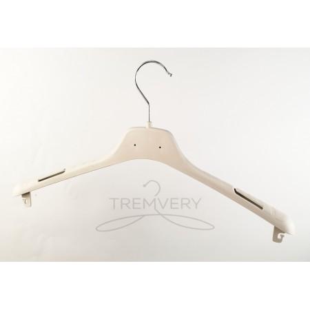 Вешалка плечики  ВОП-42/2,8 КП S2white универсальная для любых типов одежды