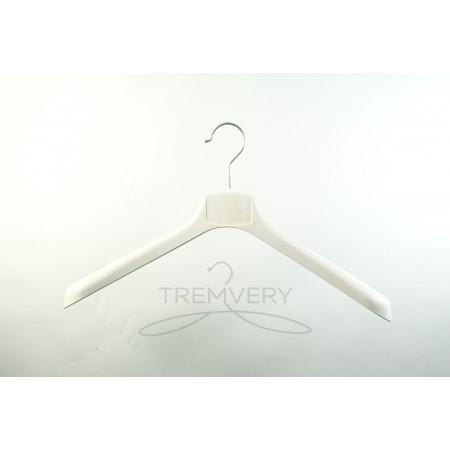 Вешалка плечики пластиковая  с широкими плечами  ВОП 42/4 S2white (белый кремовый)