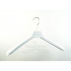 Вешалка плечики пластиковая  с широкими плечами  ВОП 42/4 GPSM2 (белый глянцевый)