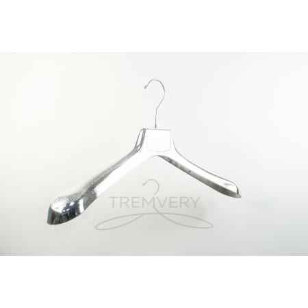 Вешалка для одежды металлизированная(серебристая)