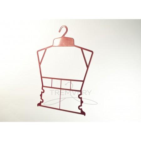 """Вешалка """"Рамка"""" для детской одежды (красный)"""