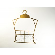 Вешалка рамка домик пластиковая P1 золотистый