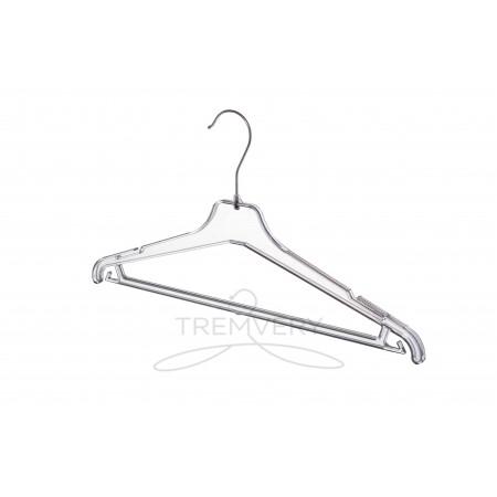 Вешалка для одежды ВКР-40 GPPS1 прозрачная с глиттером