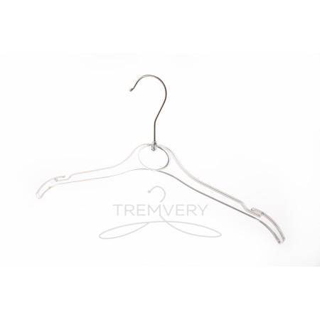 Вешалка для одежды пластиковая ВТ-2 (26 см) GPPS1(прозрачная)