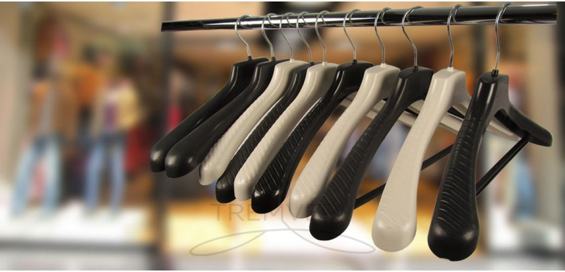 Hangers with a large shoulder are always available!