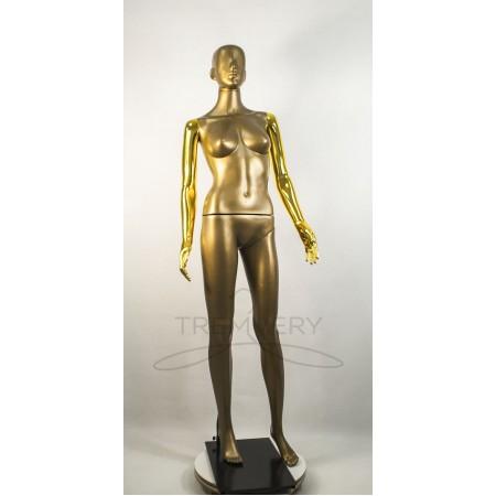 Манекен пластиковый  женский бронзовый с металлизированными руками   модель Сиваян Аватар  (золото)