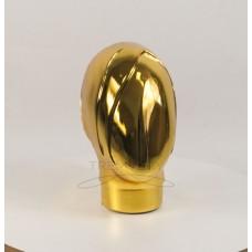 Манекен  головы  женской  Аватар-2 безликий металлизированный (золото)