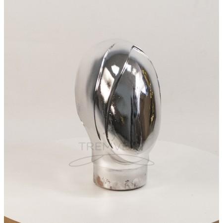 Манекен  головы  женской  Аватар-2 безликий металлизированный (платина)