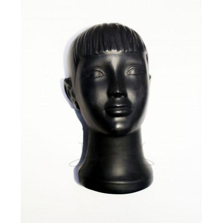 Манекен головы детской для головных уборов черный