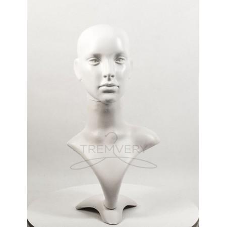 Манекен бюста и головы женской белый