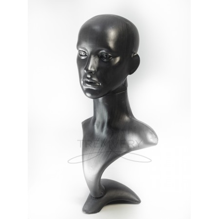 Манекен бюста и головы женской черный