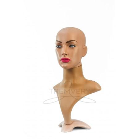 Манекен бюста и головы женской с макияжем
