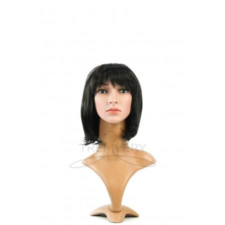 Манекен бюста и головы женской с макияжем и париком