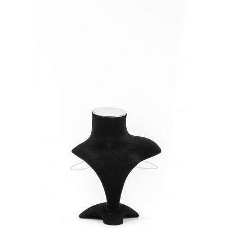Манекен бюст бархатный для украшений (черный)