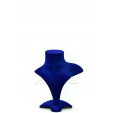 Манекен бюст бархатный для украшений (синий)