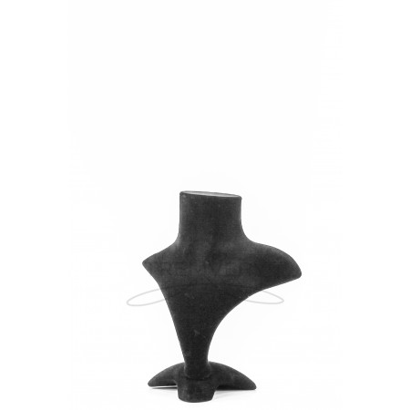 Манекен бюст бархатный-2 для украшений (черный)