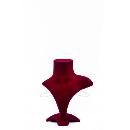 Манекен бюст бархатный для украшений (красный)
