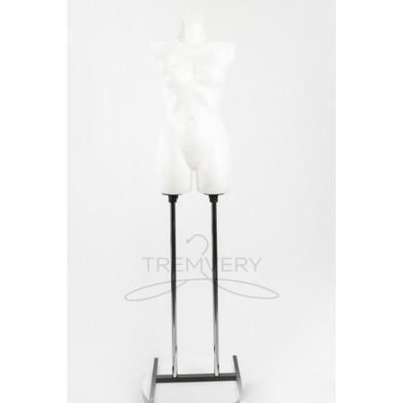 Торс женский Венера ровная белая на подставке
