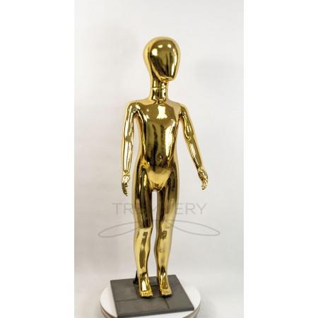 ! Манекен детский 120 см металлизированній (золото) ( аватар)  в полный рост на подстаке