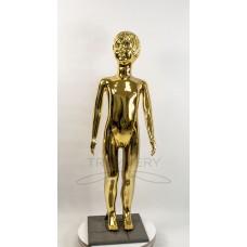 ! Манекен детский 120 см металлизированній (золото) ( девочка )  в полный рост на подстаке