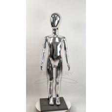 ! Манекен детский 120 см металлизированній (платина) ( аватар)  в полный рост на подстаке
