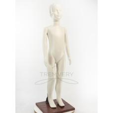! Манекен детский 120 см белый матовый ( девочка)  в полный рост на подстаке