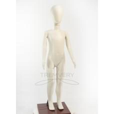 ! Манекен детский 120 см белый матовый ( аватар)  в полный рост на подстаке
