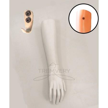 Манекен руки левой женской  с крючком на стену