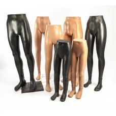 Mannequins of legs and hands