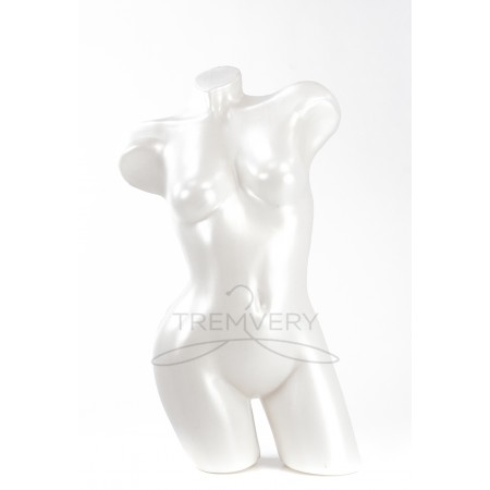 Манекен торс женский Венера  изогнутая (белая)