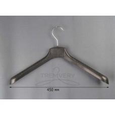 Вешалка плечики широкие для одежды ВОП 45-5 (черный)