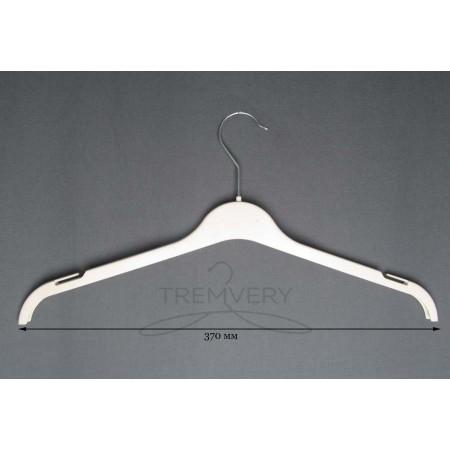 Вешалка для одежды белая трикотаж ВТ-37