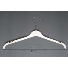 Вешалка для одежды белая трикотаж ВТ-41