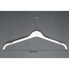 Вешалка для одежды белая трикотаж ВТ-45 (белый)